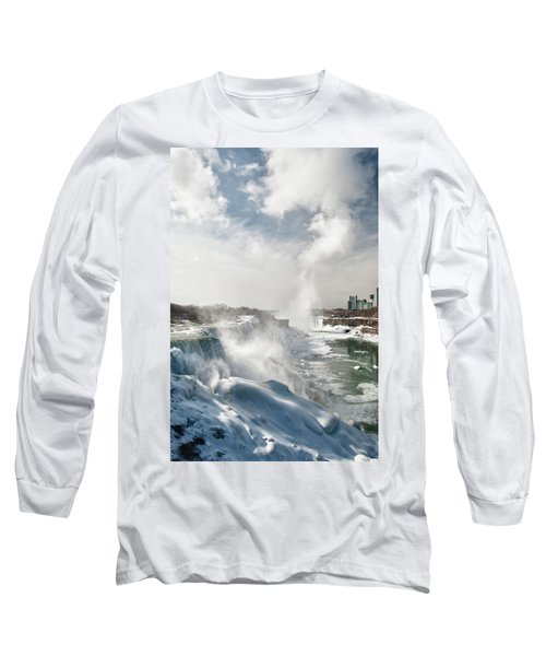 Long Sleeve T-Shirt featuring the photograph Niagara Falls 4601 by Guy Whiteley
