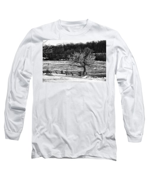 Long Sleeve T-Shirt featuring the photograph Niagara Falls Ice 4514 by Guy Whiteley