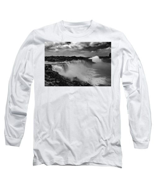 Long Sleeve T-Shirt featuring the photograph Niagra Falls by Jason Moynihan