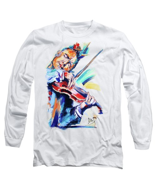Nigel Kennedy Long Sleeve T-Shirt by Melanie D