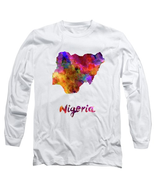 Nigeria In Watercolor Long Sleeve T-Shirt