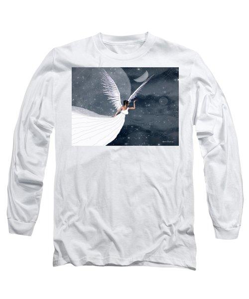 Night Angel Long Sleeve T-Shirt by Rosalie Scanlon