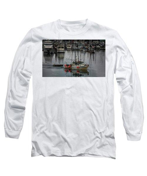 Night Drifter Long Sleeve T-Shirt by Randy Hall