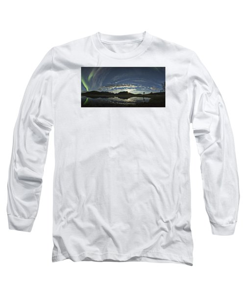 Night Sky Panorama Long Sleeve T-Shirt