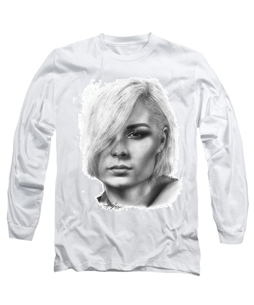 Nina Nesbitt Drawing By Sofia Furniel Long Sleeve T-Shirt by Sofia Furniel