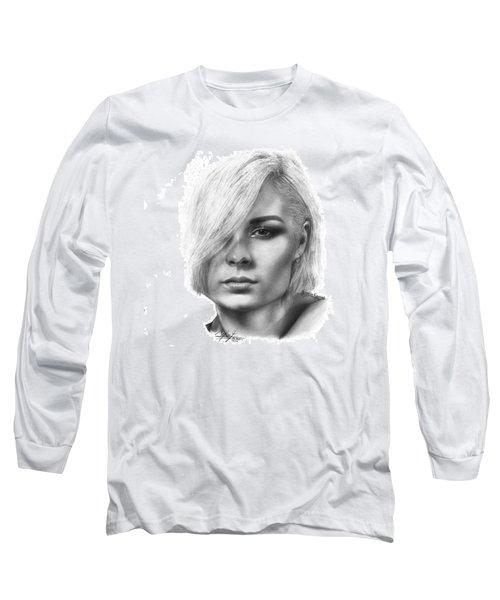 Nina Nesbitt Drawing By Sofia Furniel Long Sleeve T-Shirt