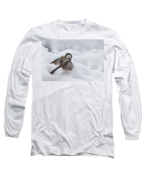 Chickadee - Wings At Work Long Sleeve T-Shirt