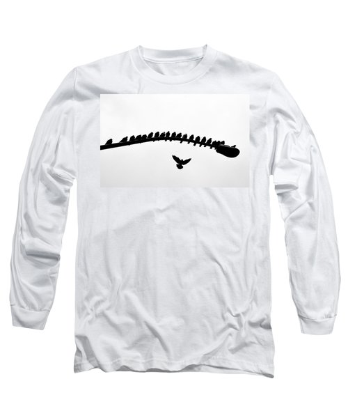 Long Sleeve T-Shirt featuring the photograph No Place To Land by AJ Schibig