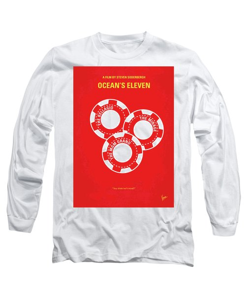 No056 My Oceans 11 Minimal Movie Poster Long Sleeve T-Shirt