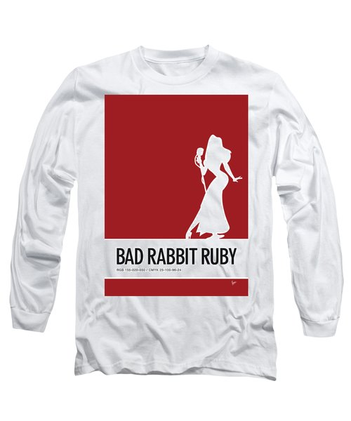 No14 My Minimal Color Code Poster Jessica Rabbit Long Sleeve T-Shirt