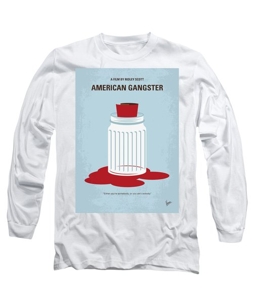 Long Sleeve T-Shirt featuring the digital art No748 My American Gangster Minimal Movie Poster by Chungkong Art