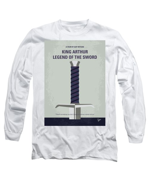 Long Sleeve T-Shirt featuring the digital art No751 My King Arthur Legend Of The Sword Minimal Movie Poster by Chungkong Art