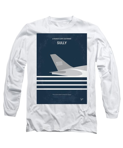 Long Sleeve T-Shirt featuring the digital art No754 My Sully Minimal Movie Poster by Chungkong Art