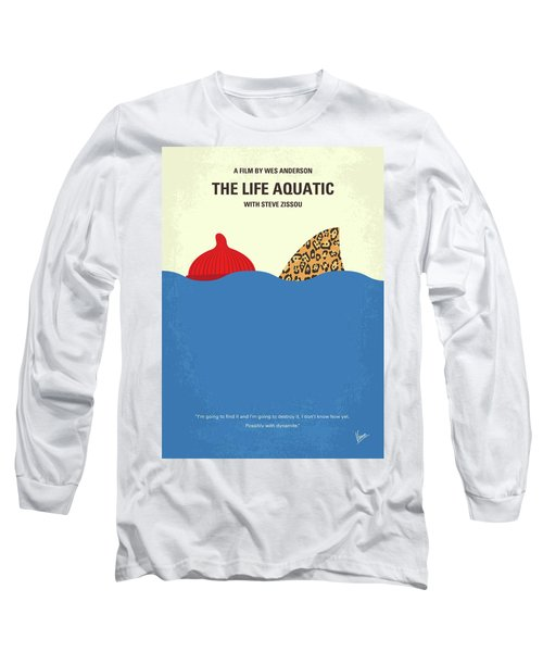 Long Sleeve T-Shirt featuring the digital art No774 My The Life Aquatic With Steve Zissou Minimal Movie Poster by Chungkong Art