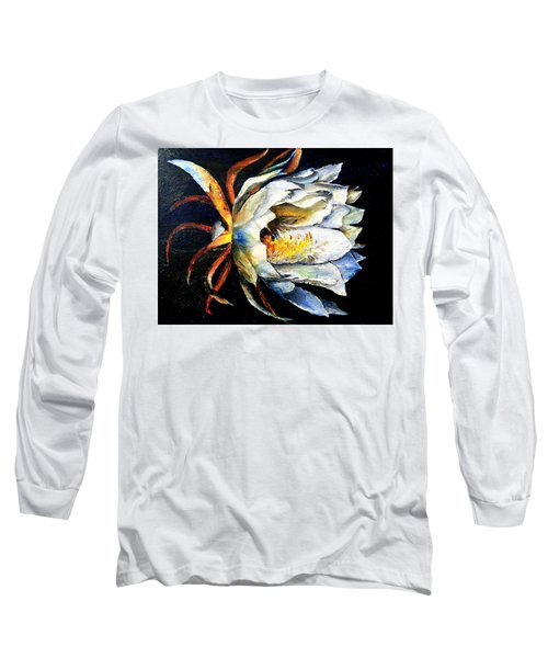Nocturnal Desert Blossom Long Sleeve T-Shirt