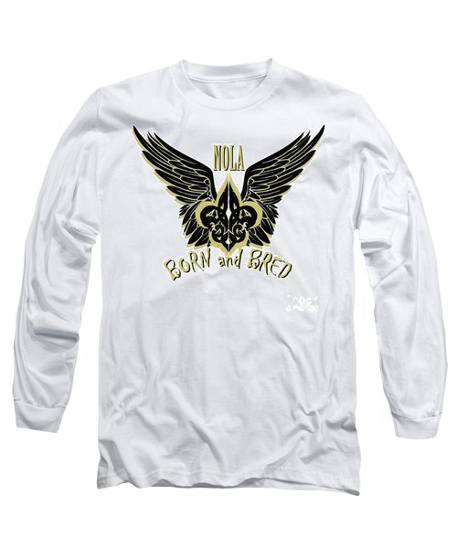 Long Sleeve T-Shirt featuring the painting Nola by Tbone Oliver