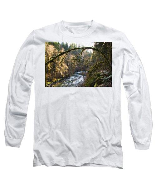 Long Sleeve T-Shirt featuring the photograph Nooksack River by Yulia Kazansky