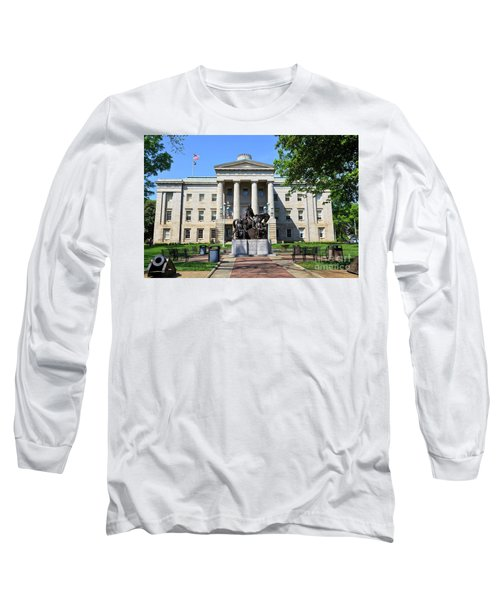 North Carolina State Capitol Building With Statue Long Sleeve T-Shirt