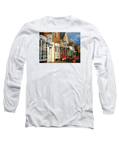 Long Sleeve T-Shirt featuring the photograph North Conway Village 2 by Nancy De Flon