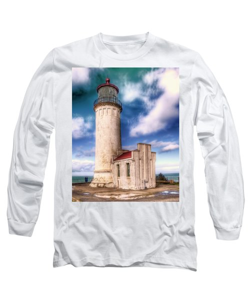 North Head Lighthouse - Washington Coast Long Sleeve T-Shirt