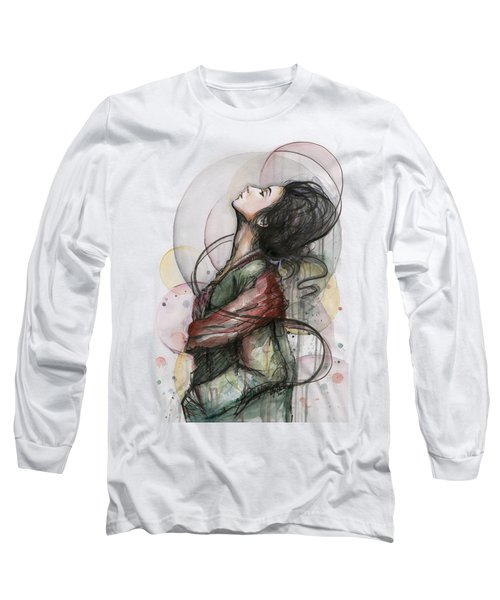 Beautiful Lady Long Sleeve T-Shirt