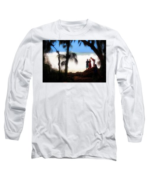 Long Sleeve T-Shirt featuring the photograph North Shore Wave Spotting by Jim Albritton