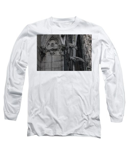 Long Sleeve T-Shirt featuring the photograph North Side Notre Dame Cathedral by Christopher Kirby