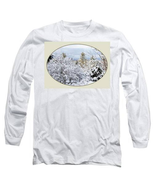 northeast USA photography button Long Sleeve T-Shirt by Lise Winne