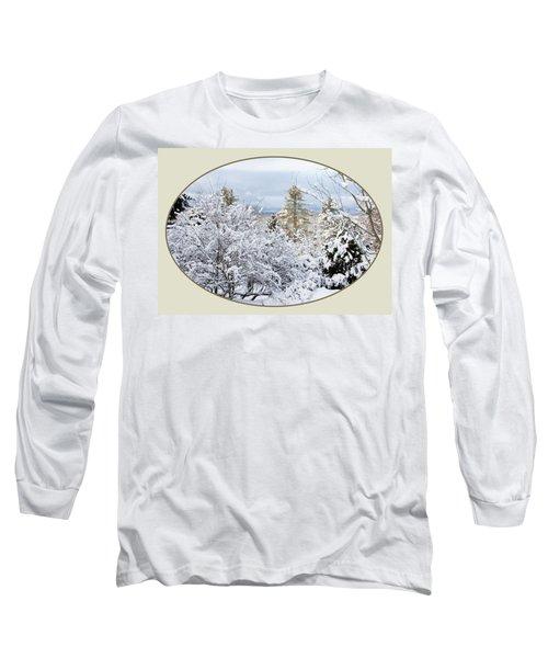 northeast USA photography button Long Sleeve T-Shirt