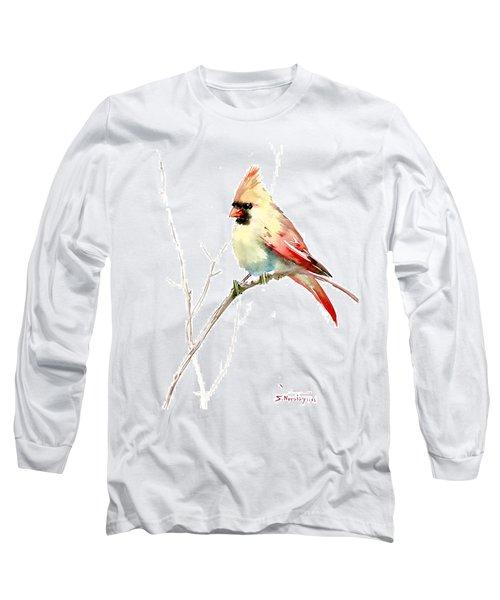 Northern Cardinal,female Long Sleeve T-Shirt