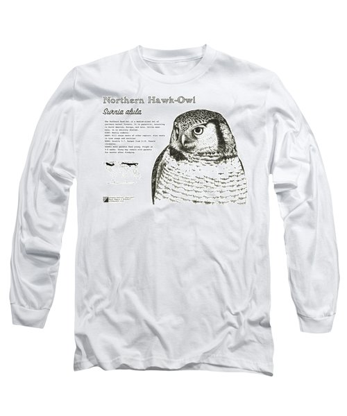 Northern Hawk-owl Infographic Poster Long Sleeve T-Shirt