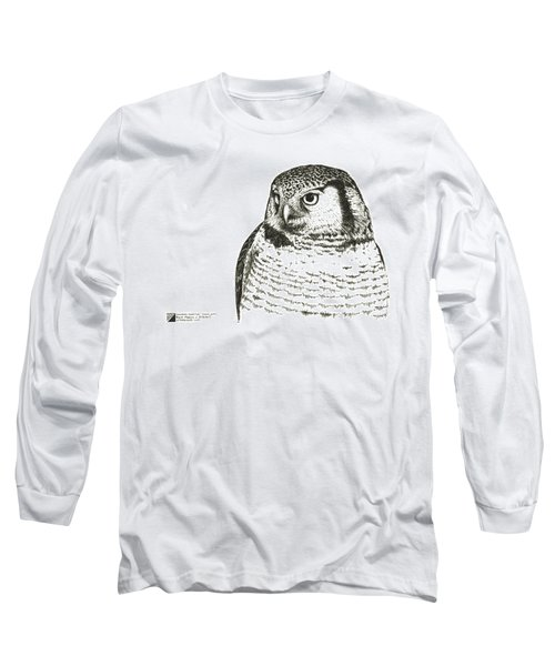 Northern Hawk-owl Long Sleeve T-Shirt