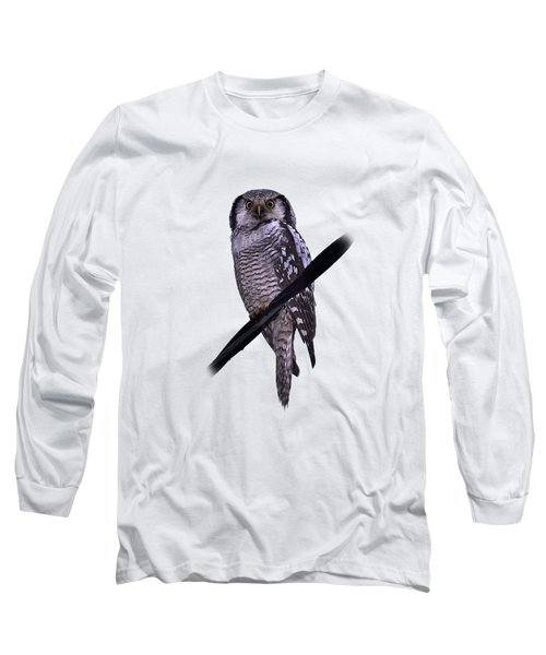 Northern Hawk-owl Transparent Long Sleeve T-Shirt