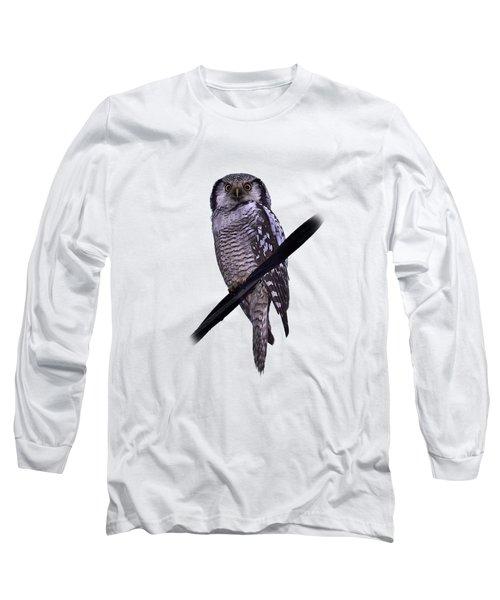 Northern Hawk-owl Transparent Long Sleeve T-Shirt
