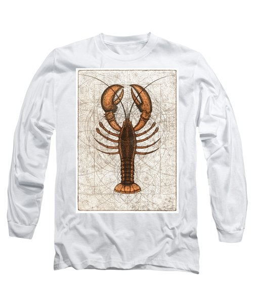 Northern Lobster Long Sleeve T-Shirt by Charles Harden