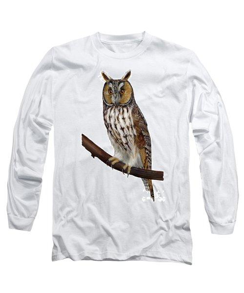 Northern Long-eared Owl Asio Otus - Hibou Moyen-duc - Buho Chico - Hornuggla - Nationalpark Eifel Long Sleeve T-Shirt