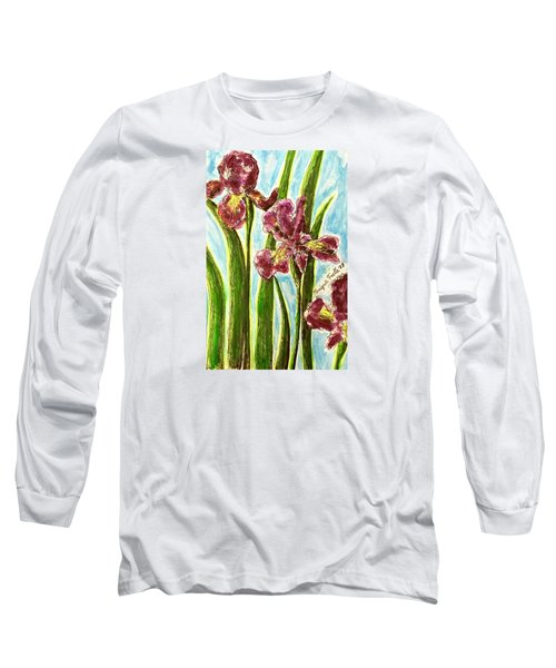Nostalgic Irises Long Sleeve T-Shirt