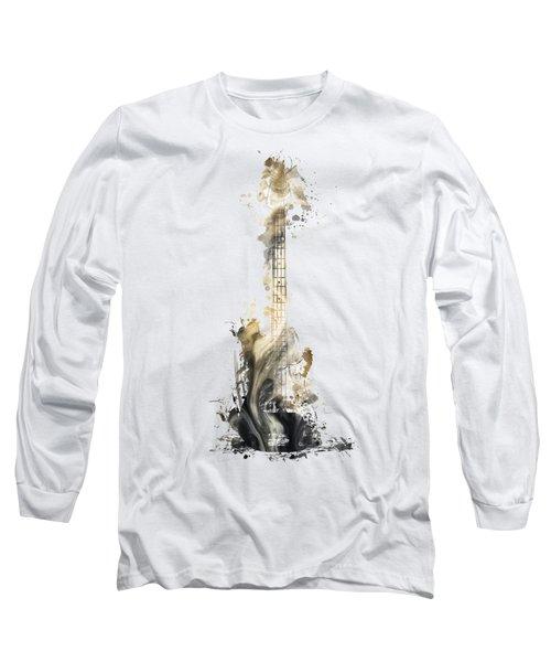 Nostalgy Guitar Watercolor Instrument Long Sleeve T-Shirt