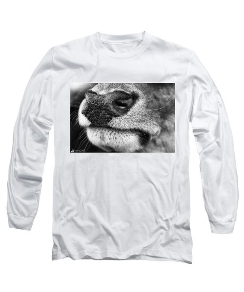 Nosy Nose  #monochrome #canon Long Sleeve T-Shirt by Mandy Tabatt