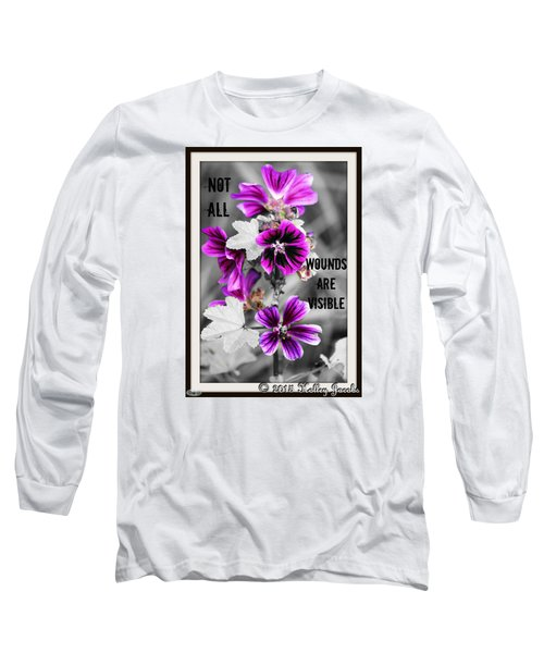 Not All Wounds Long Sleeve T-Shirt by Holley Jacobs