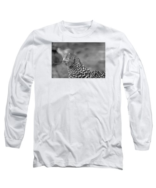 Long Sleeve T-Shirt featuring the photograph Not Your Chicken Dinner by Lora Lee Chapman