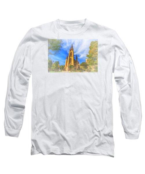 Notre Dame University 5 Long Sleeve T-Shirt by David Haskett