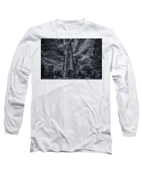 Long Sleeve T-Shirt featuring the photograph Notre Dame University Church by David Haskett