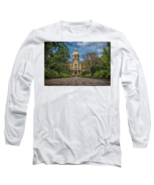 Notre Dame University Q1 Long Sleeve T-Shirt by David Haskett