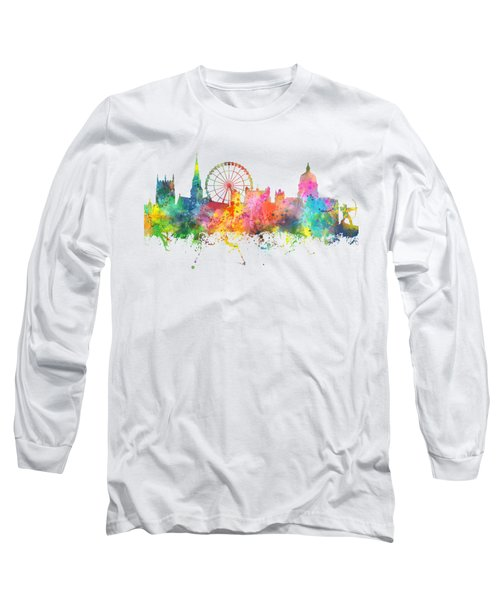 Nottingham  England Skyline Long Sleeve T-Shirt