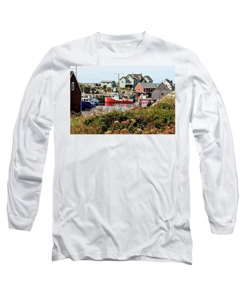 Long Sleeve T-Shirt featuring the photograph Nova Scotia Fishing Community by Jerry Battle