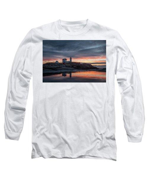 Nubble Sunrise Reflection Long Sleeve T-Shirt