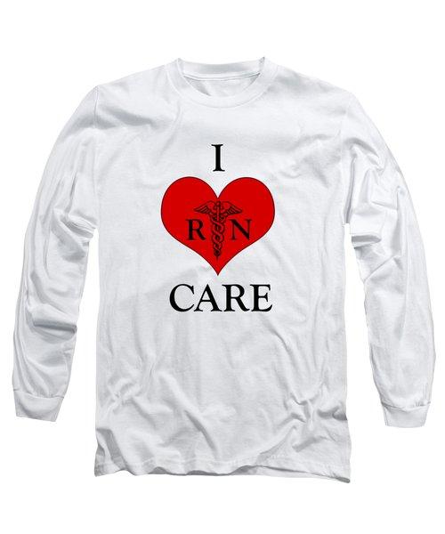 Nursing I Care -  Red Long Sleeve T-Shirt