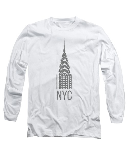 Nyc New York City Graphic Long Sleeve T-Shirt by Edward Fielding