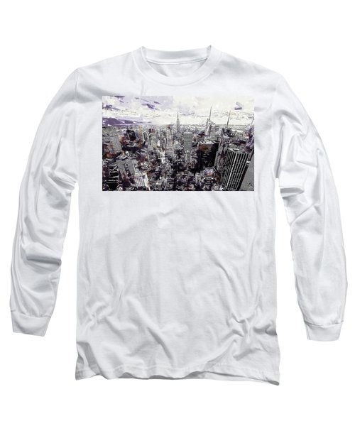 Nyc View From Rockefeller Center Long Sleeve T-Shirt